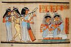 Egyptian Hand-Painted Papyrus Artwork: Women Musicians from Tombs of the Nobles