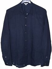 James Perse -Men (Size 3) Blue Button Front  Long Sleeve Shirt