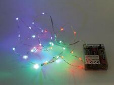 GUIRLANDE LUMINEUSE A LED RVB MULTICOLORE A PILE 30 LEDS 1,80m DECORATION NOEL