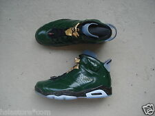 "Nike Air Jordan 6/vi ""Champagne"" 45 pure Green/Metallic Gold-Challenge red"