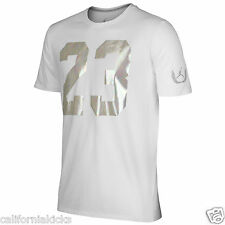 NIKE Air Jordan 23 Pearl Icon T-Shirt sz L Large White Pure Platinum NEW AJ NEW