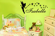 Tinkerbell Personalized Name Vinyl Wall Lettering Decal/Words/Quote/Sticker