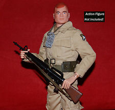 VINTAGE 1964 GI JOE ACTION SOLDIER 1967 GREEN BERET HONG KONG ® M16 MACHINE GUN