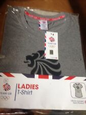 Team GB Rio OLYMPICS Ladies Grey T-Shirt - Size Small - BNWT