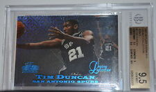 B001 1997-98 TIM DUNCAN FLAIR SHOWCASE LEGACY ROW 0  #5 12/100 BGS 9.5 GEM MINT