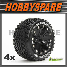 4 x LOUISE RC 1/10 ST HUMMER SPORT BEADLOCK STYLE RC SC ST MT TRUCK WHEEL & TYRE
