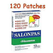 Lot 10x12 = 120 Patches Hisamitsu SALONPAS - Muscle Pain Relieving