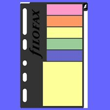 Filofax Multifit Assorted Sticky Notes Pocket and Mini Size Refill Insert 210136