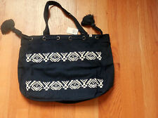 HOLLISTER  NWT Cinched Shine  TOTE BOOK SCHOOL BAG Blue by Abercrombie