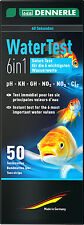 DENNERLE 6in1 50 ACQUA STRISCE PER TEST KIT PH GH KH NO2 NO3 come JBL EasyTest
