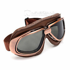 Retro Vintage Motorcycle Cruiser Scooter Biker Goggles For Harley Bobber Chopper