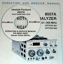 HP 8557A Ops / Service Manual (Late Serial LED Type)