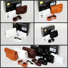 Leather case bag to Nikon COOLPIX P330 P340 P310 camera white black 4 colors