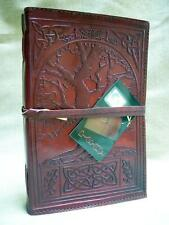 A5 TREE of LIFE Handmade Pagan Wicca Leather Journal Book of Shadows Diary