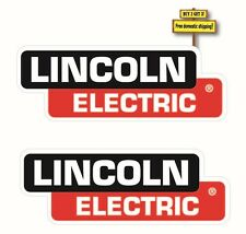 "Pair (2) Lincoln Electric Welder Replacement Decal/Sticker 1.5"" x 4.2"" DieCut"