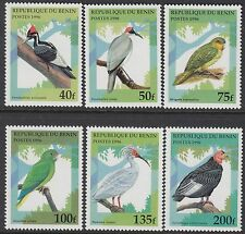 BIRDS : 1996 BENIN Birds set + Min Sheet   SG1425-30+MS1431 never-hinged mint
