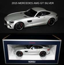 NOREV 2015 MERCEDES BENZ AMG GT SILVER DIECAST MODEL CAR 1:18 183495