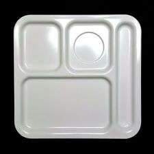 Vtg White Texas Ware Square Divided School Cafeteria Lunch Tray Plate [9 left]