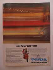 1980 Print Ad Vespa Motorcycle Moped Mini-Bike ~ Wow. What Was That?