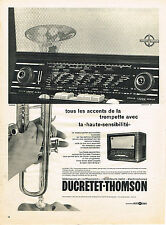 PUBLICITE ADVERTISING 1958   DUCRETET-THOMSON  radio téléviseurs