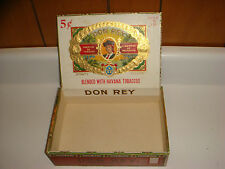 Don Rey Cigar Box, PA Tax Stamp VERY NICE!!!! Older Box