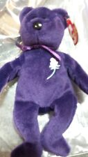 1st Edition Ty Beanie Baby Princess Diana Bear 1997 MINT No Space, Case