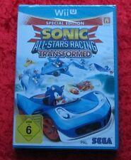 Sonic All Stars Racing Transformed Nintendo WiiU juego nuevo embalaje original, versión en alemán