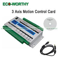 3 Axis Mach3 Motion Card CNC Interface Breakout Board Stepper Control Drives