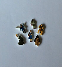 6 WIZARD OF OZ  FLOATING LOCKET CHARM COWARDLY LION MONKEY TIN MAN SCARECROW