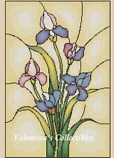 Counted Cross Stitch IRIS -Stained Glass - COMPLETE KIT #6-361 KIT