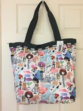 "LESPORTSAC HAILEY TOTE ""ART SCHOOL"" NWT"