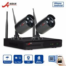 Anran Wireless 720P 4CH 2PCS CCTV Camere System Security IR-CUT Waterproof NVR