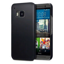 Ultra Slim Hard Rubberised Back Cover Case for HTC One M9 - Solid Black