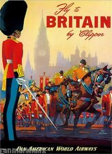 United Kingdom England Vintage Great Britain Europe Travel Advertisement Poster