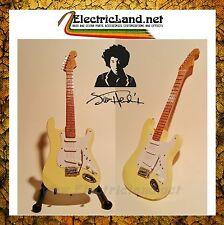 Mini Guitar JIMI HENDRIX Woodstock fender stratocaster memorabilia chitarra