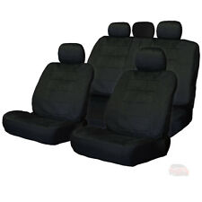 FOR HONDA NEW SEMI CUSTOM BLACK VELOUR CAR SEAT COVERS SET