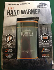 NEW CELESTRON ELEMENTS THERMOCHARGE 10 RECHARGEABLE 2-IN-1 HAND WARMER #48024