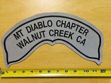 Large REFLECTIVE HOG Patch Harley Davidson Owners Group Mt Diablo Walnut Creek