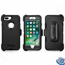 New OEM Otterbox Defender Series Black Case + Clip for Apple iPhone 7 Plus