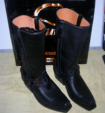 WOMENS RANCHO COWBOY MOTORCYCLE LEATHER BOOTS SIZE 8