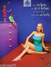Publicité advertising 1999 Sous Vetement lingerie nuisette Petit Bateau