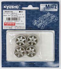 Kyosho Mini Z AWD MDH012S Wheel Set (6-Spoke/ Silver/ Formula D)