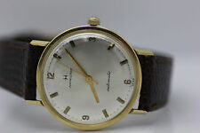 CLEAN Vintage 1960's Men's 14k Solid Gold Hamilton Automatic Swiss Watch Runs