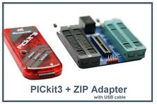 PICkit3 Microchip USB Programmer + ZIF adapter (PIC10/12/16/18/24/30/33 Support)