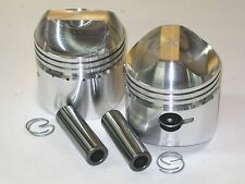 Triumph unit 500 twin piston set .040 over pistons 68mm clips pins plus 40 9.5:1