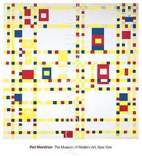 """MONDRIAN PIET - BROADWAY BOOGIE WOOGIE - ART PRINT POSTER 11"""" x 14""""  (1927)"""