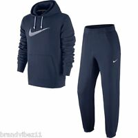 Nike Men's Swoosh Navy Overhead Tracksuit Hoody and Joggers 679387 473