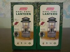 2 TWO NEW COLEMAN LANTERN DUAL FUEL GASOLINE MADE IN USA WICHITA KANSAS 285-700