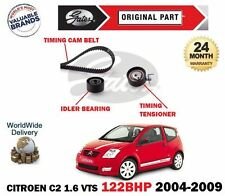 FOR CITROEN C2 1.6 VTS NFS 16V 2004-2009 GATES TIMING CAM BELT TENSIONER KIT