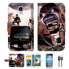 Iron Maiden Wallet TPU Case Cover For Samsung Galaxy S4 -- A014